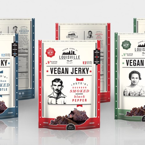 Make our vegan soy jerky package look awesome!!