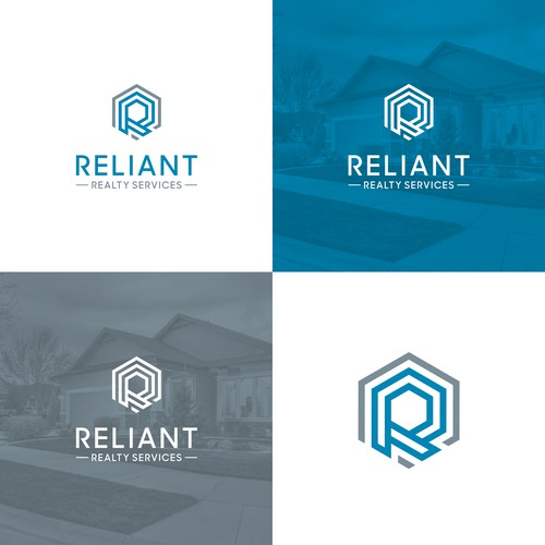 Geometric sharp logo for real estate services.
