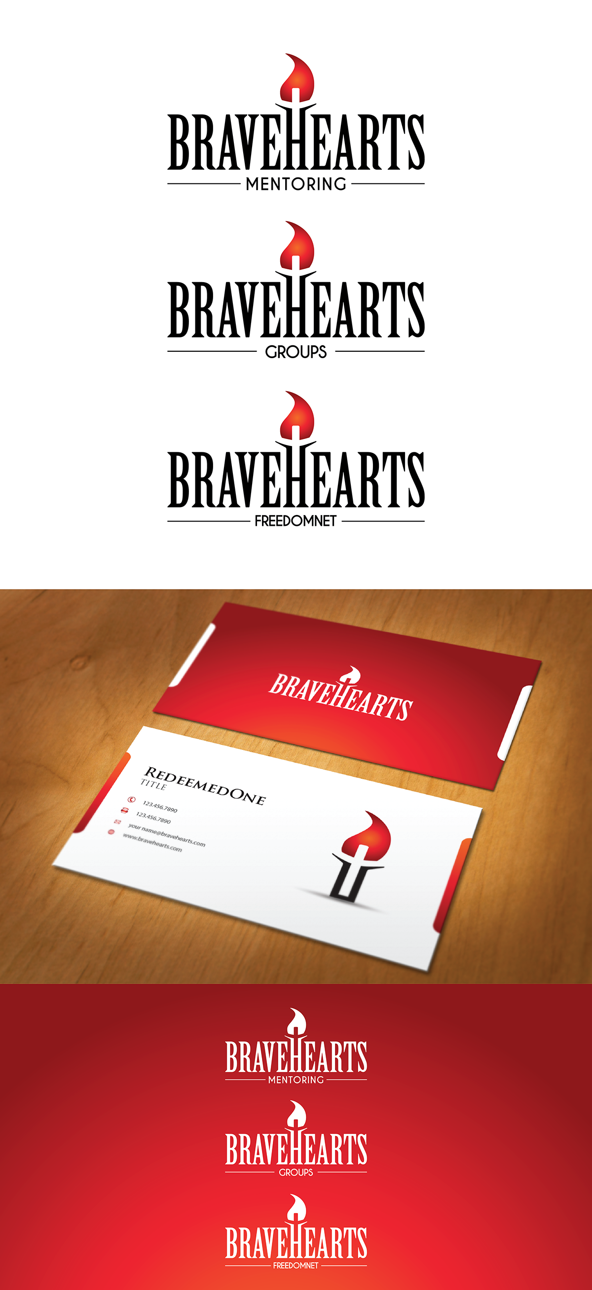 BraveHearts logo redesign