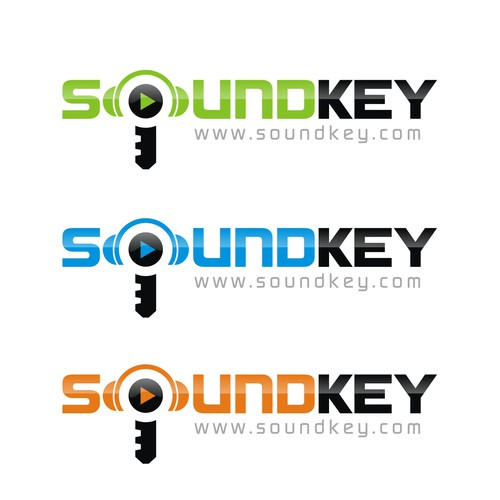 New Logo for an exciting silicon valley startup - SoundKey.com!