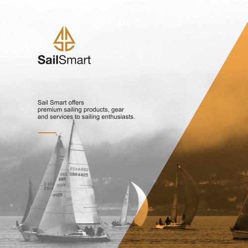 Sail smart logo concept