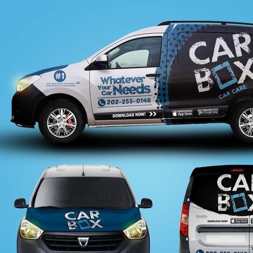 Car Wrap Design for Car Box