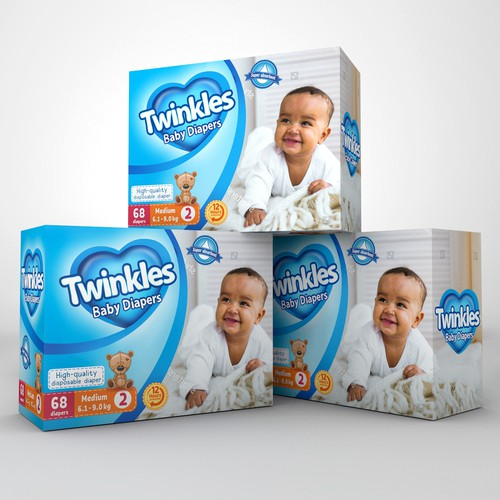 Luxury package design for baby diapers