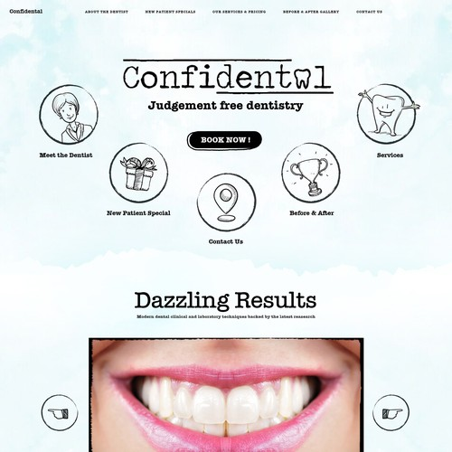 Unique Dental Clinic Website for Confidental