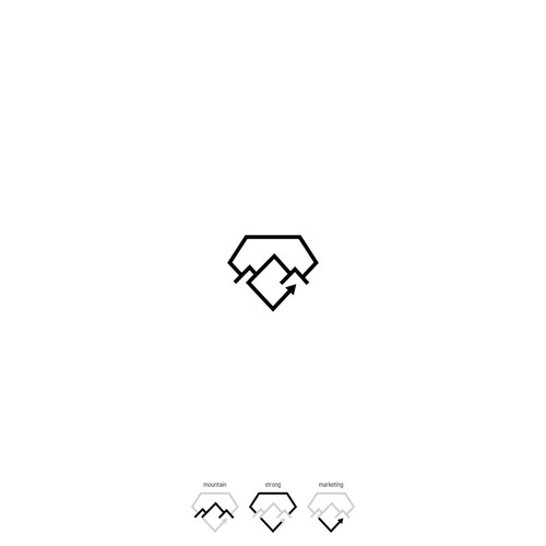 Minimalist lines logo for StrongMountain Media