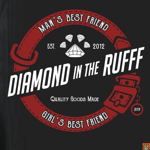 t-shirt design for diamond in the RUFF