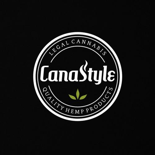 Bold vintage badge logo doe CannaStyle