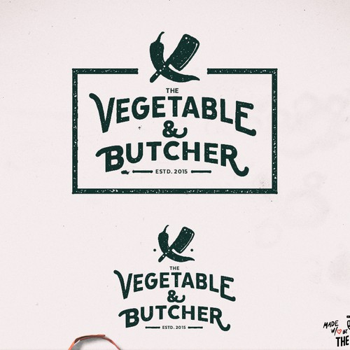 2nd Logo for 'The Vegetable and the Butcher'