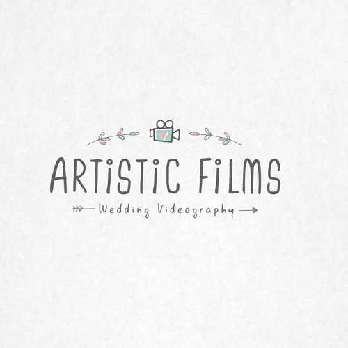 Create a unique and refreshing look for a wedding video company.