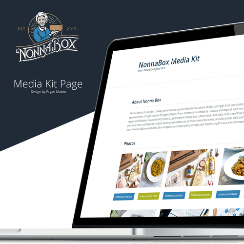 MediaKit Page for NonnaBox