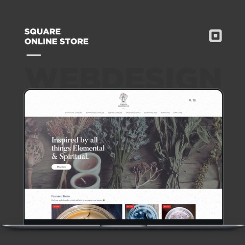 Square online store for a Candle Shop