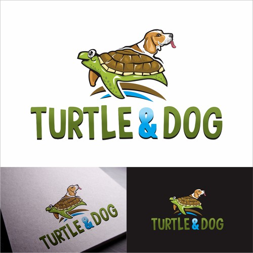 turtle and dog logo