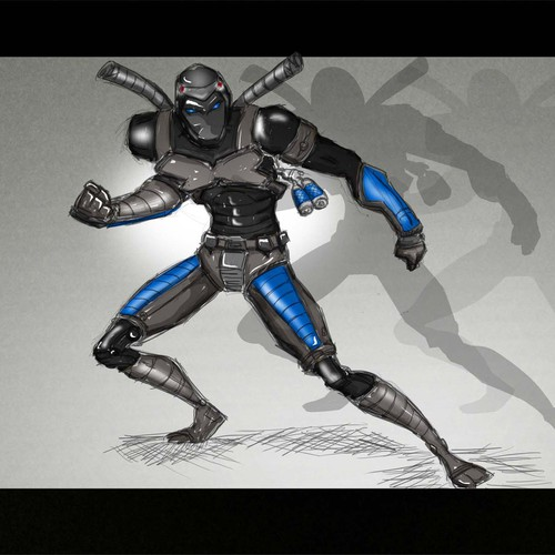 Futuristic Character for card game - Ninja