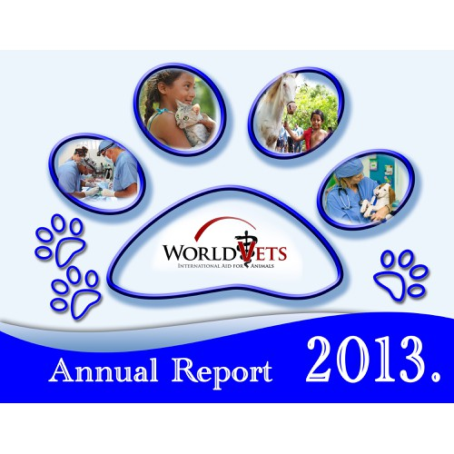 Create a cover page for World Vets' Annual Report
