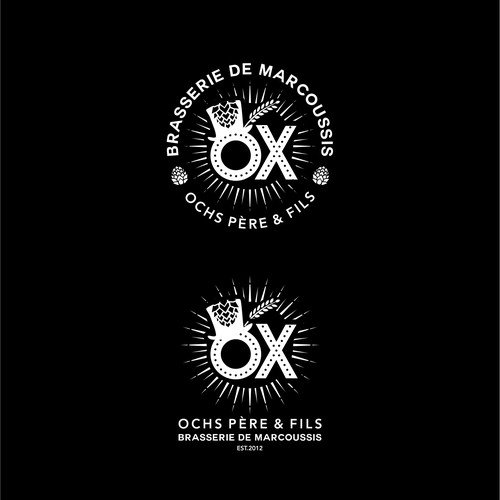 Bold logo for OX brewery