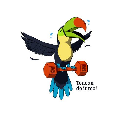 Toucan Cartoony Illustration