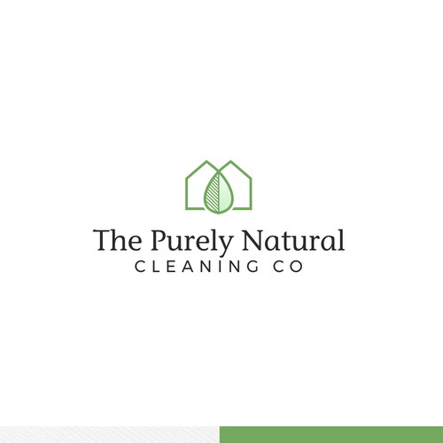 Simple logo concept for cleaning company