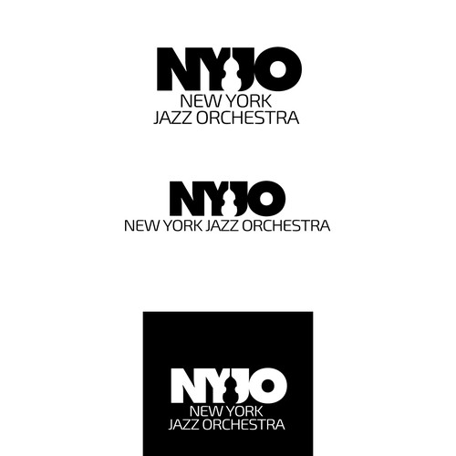 Jazz orchestra logo with double bass