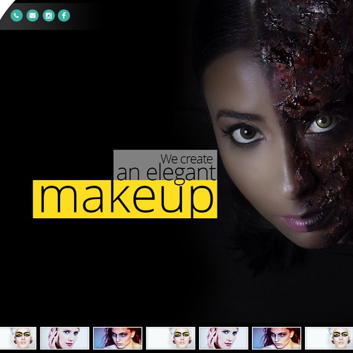 Website for A Certified Makeup Artist