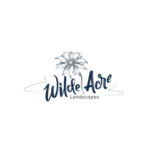 Logo for a woman-owned landscape construction company