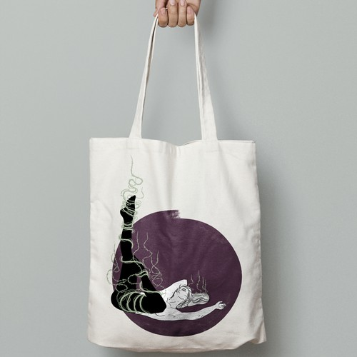 Catchy tote-bag design