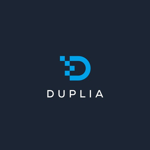 Simple minimalist logo for Duplia