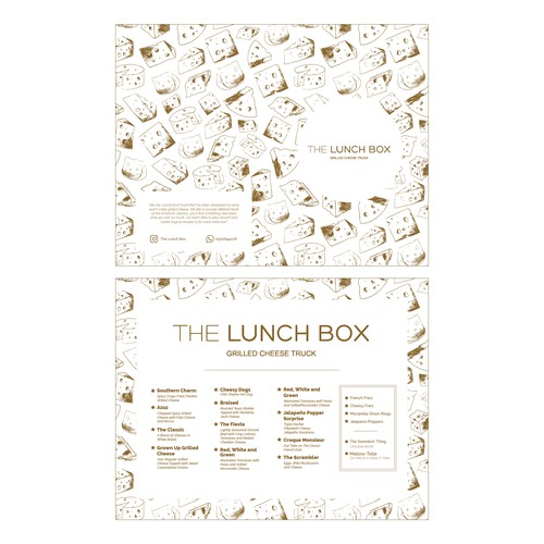 Menu design for @thelunchbox