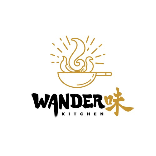 Minimal logo design for an Asian fusion restaurant