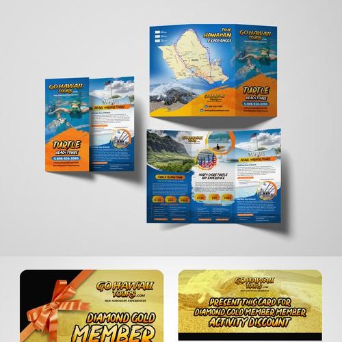 GoHawaii Gold membership Card and flyer