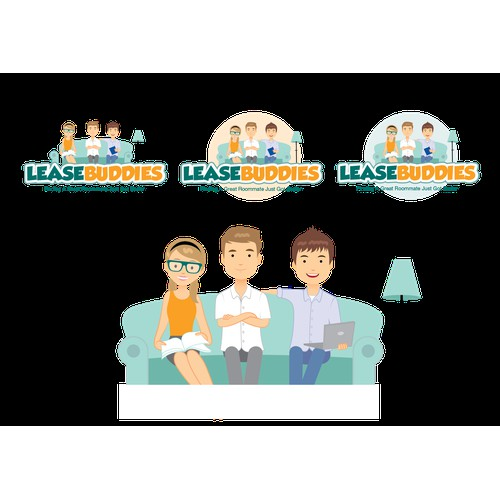 Playful, fun logo to help young adults/college kids find roommates!