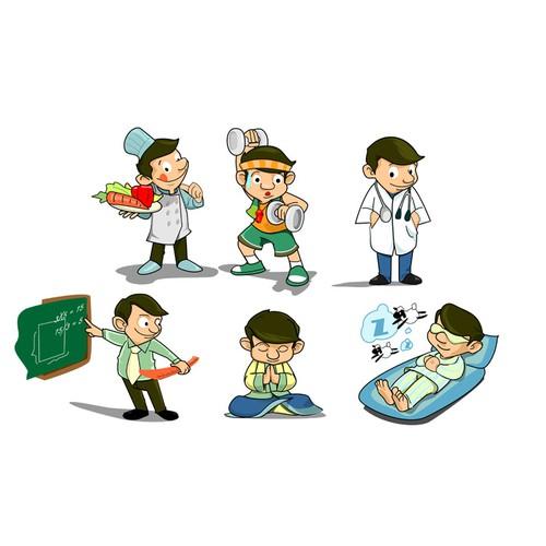 Coaching Family Cartoons: GlucoseDose Diabetes Software