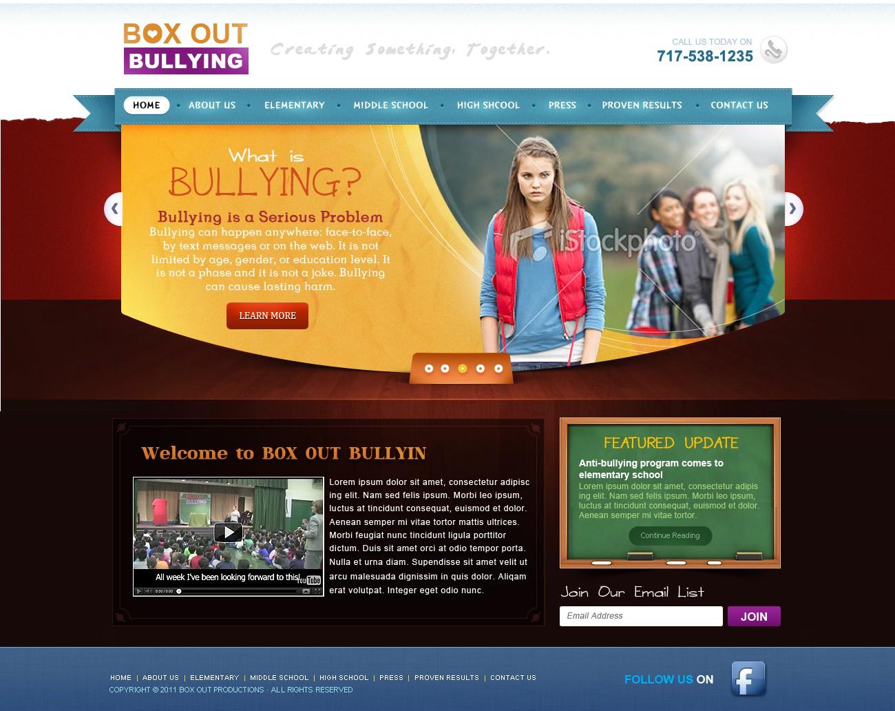 Website re-design for Anti-Bullying Prevention Assembly Program