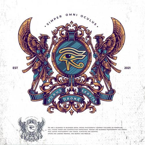 Coat of arms / crest horus logo design