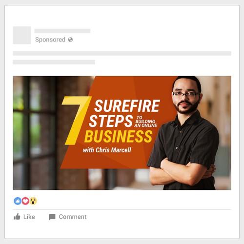 Facebook广告横幅为Chris Marcell