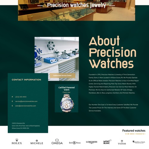 Luxury Selling watch landing page
