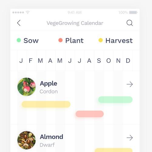 Vegetable Growing Calendar