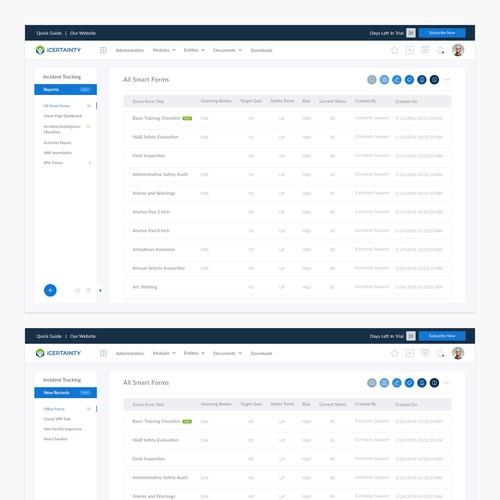 Web app Interface design