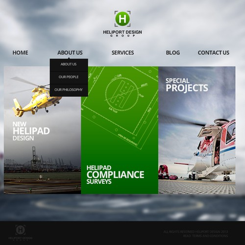 Create the next website design for Heliport Design Group (www.heliports.com.au)