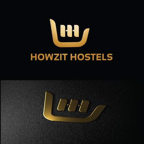 Mordern logo for HOWZIT HOSTELS