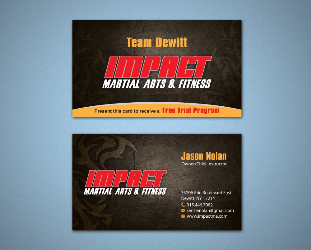 Impact Martial Arts & Fitness needs a new stationery
