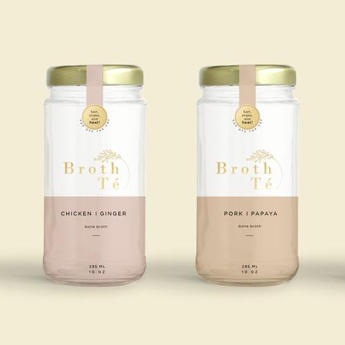 Packaging Design For Broth Te