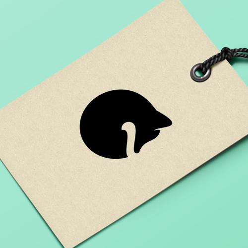 a minimalist raccoon logo