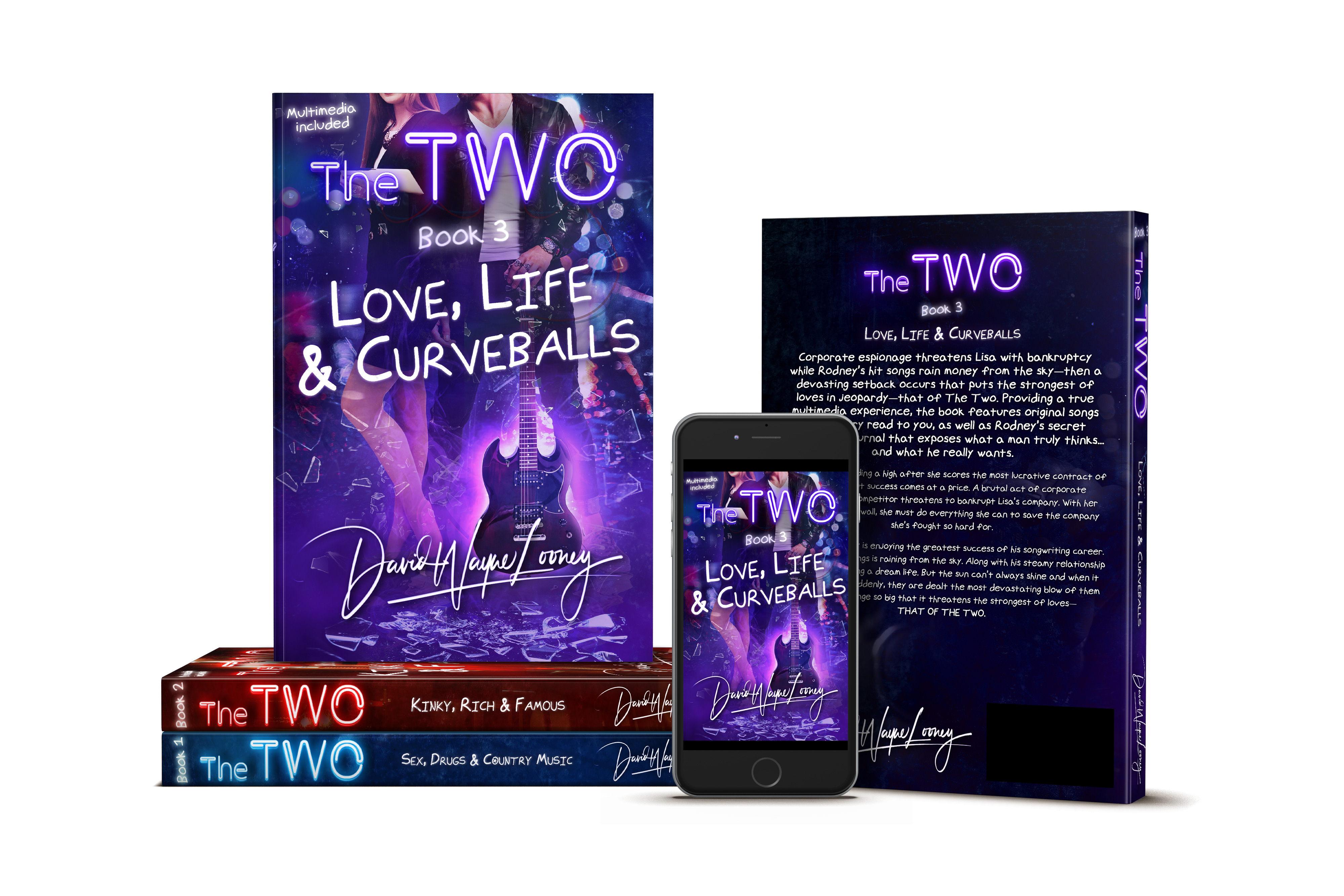 The Two - Book 2, Book 3 book covers and mockups