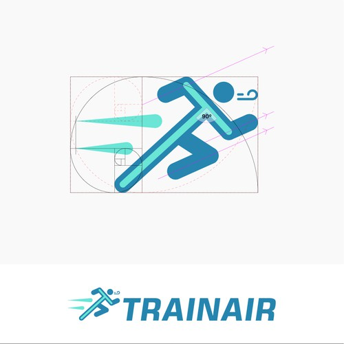 Trainair Logo with the Runner and T Shape
