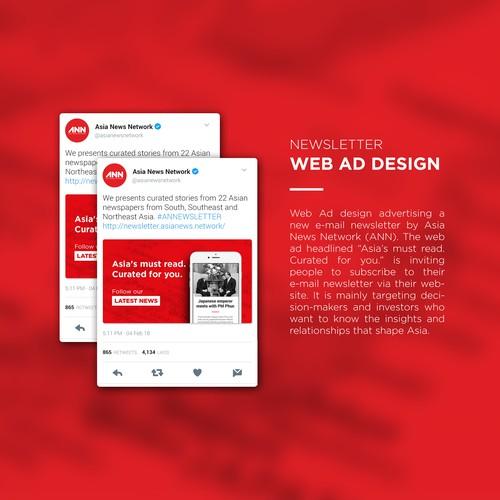 Newsletter Web Ad Design