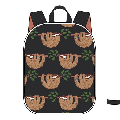 Back pack design for boys with sloth