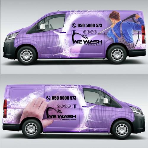 We Wash car wrap design
