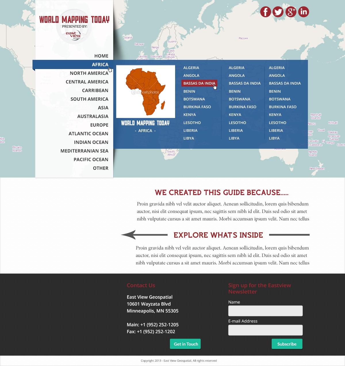 Map maker - Geospatial needs a new website design