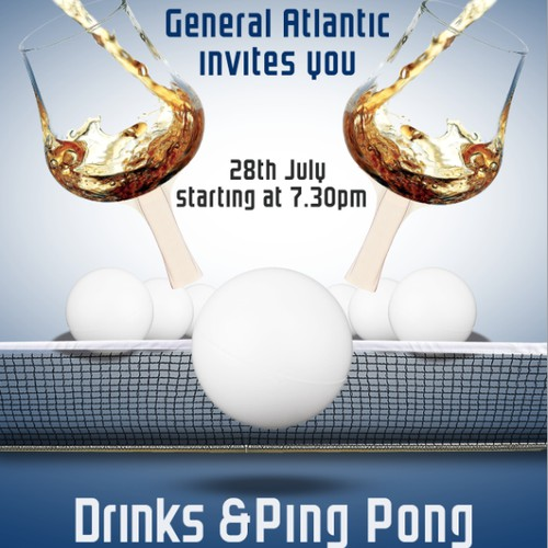 Invitation to ping pong / drinks event