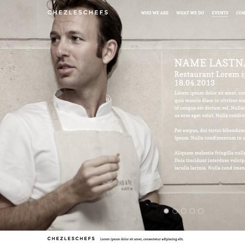 Create the website design for ChezLesChefs.com